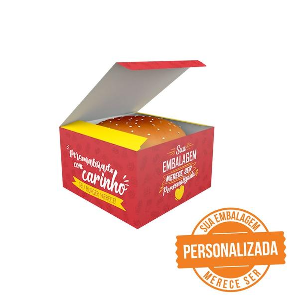 -CAIXA LANCHE HAMBURGUER PERSONALIZADA GRANDE
