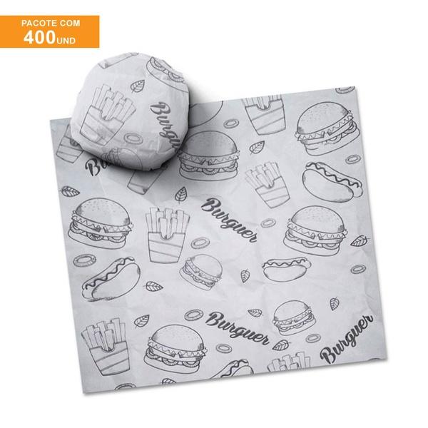 PAPEL MANTEIGA PARA LANCHE PRIME FAST FOOD 40x40CM - 400 UNIDADES