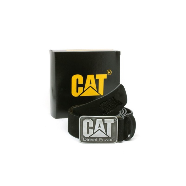 Cinto de Couro Caterpillar Diesel Power Preto