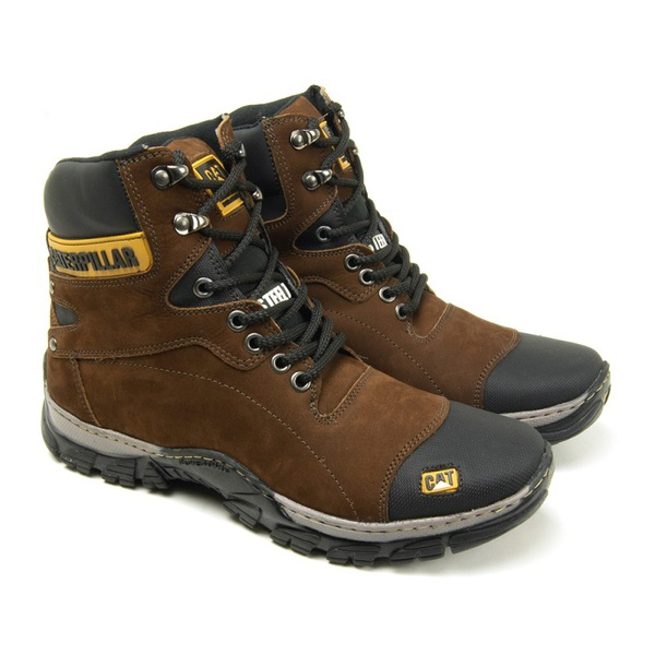 Bota Caterpillar Steel Toe Marrom