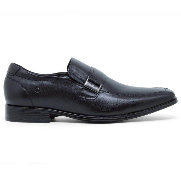 Sapato Social Cosmo Strech Taller Democrata - Preto (De Calçar)