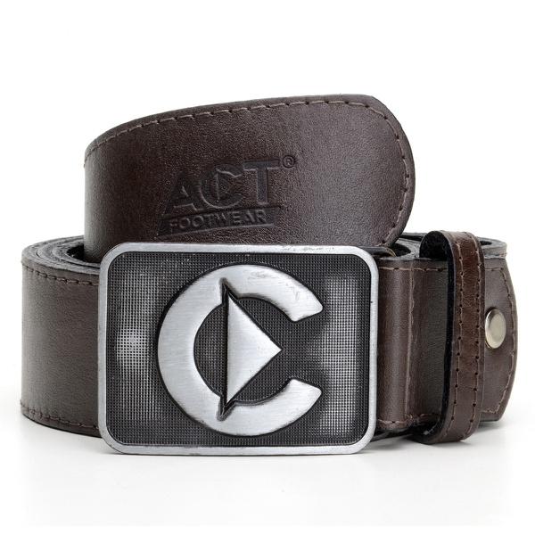 Cinto de Couro Act Footwear - Café