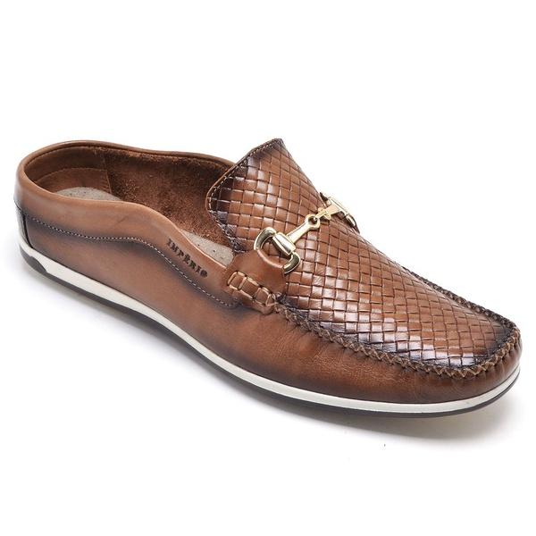 Sapato Mule Em Couro Cor Cacau