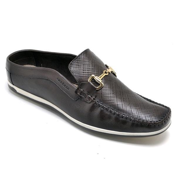 Sapato Mule Em Couro Cor Café Copia