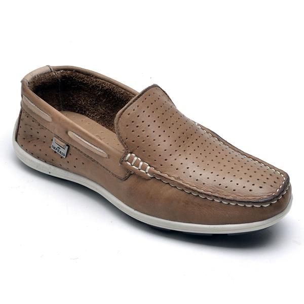 Sapato Mocassim Infantil Masculino Em Couro
