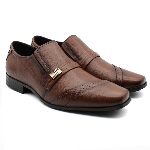 Sapato Social Masculino Em Couro Império - Cor Chocolate