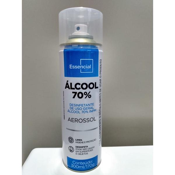 ALCOOL SPRAY 70% 300 ML DESINFETANTE USO GERAL
