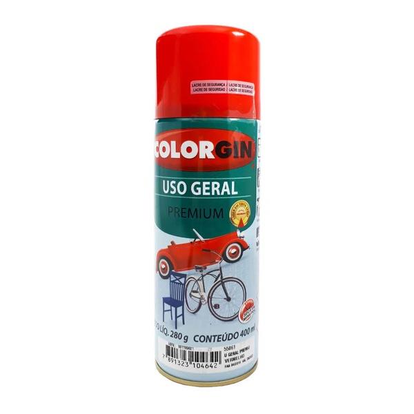 TINTA AEROSOL VERMELHO USO GERAL 350ML/250GR