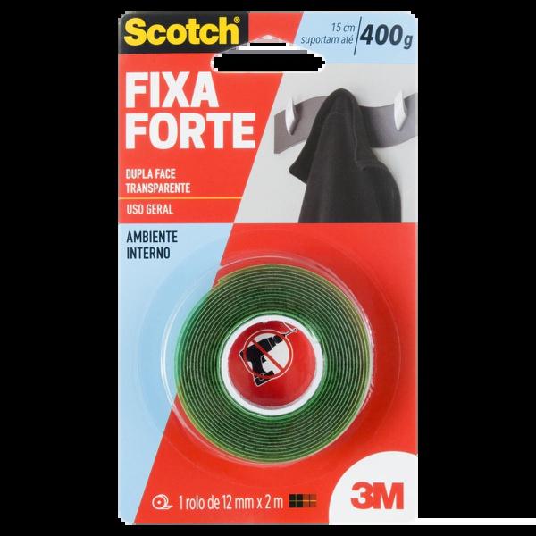 FITA DUPLA FACE SCOTCH® FIXA FORTE - USO INTERNO - 12MM X 2M