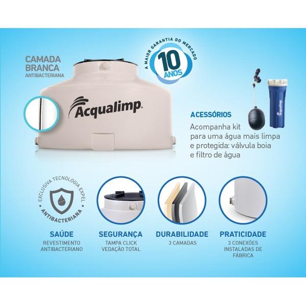 TANQUE PVC 500L AREIA AGUA LIMPA 0,70AX1,15D