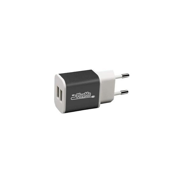 CARREGADOR UNIVERSAL PAREDE C/ 02 SAIDAS USB 2.1A PRETO