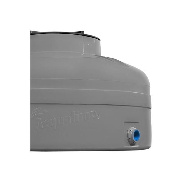 TANQUE PVC 500L CINZA FECHADA H 0,67 X D 1,11