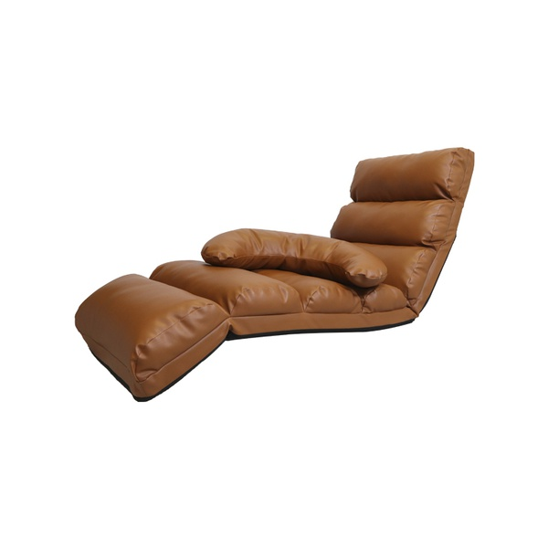 POLTRONA DE CHÃO RECLINAVEL MARRON
