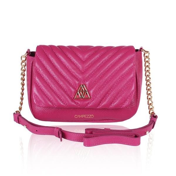 Bolsa Pink Anna de Couro com Matelassê