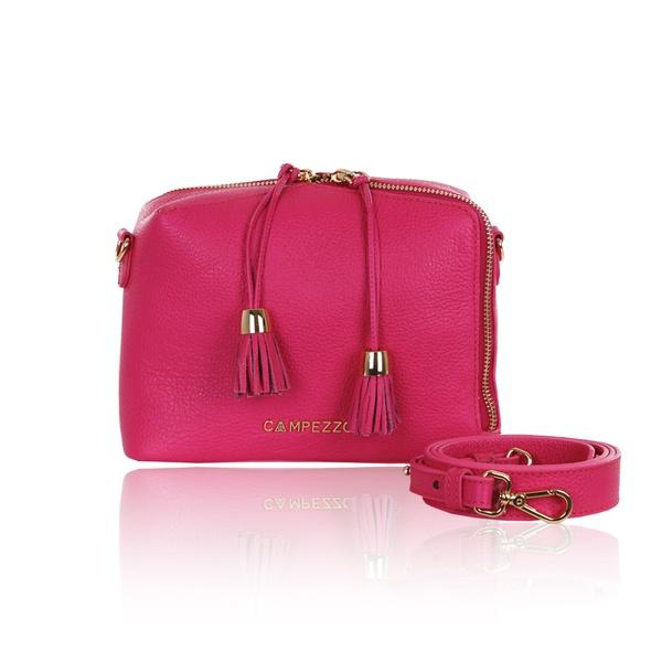 Bolsa Tiracolo de Couro Pantera Pink