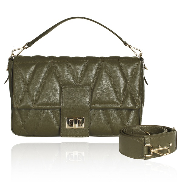 Bolsa Baguette Carrie Verde Militar