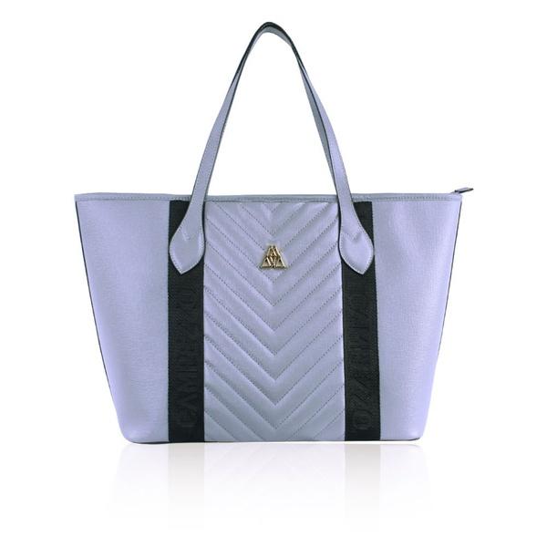 Bolsa Adrien Shopping Bag Cinza de Couro