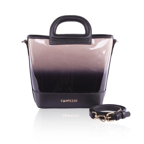 Bolsa Lassie Bucket Bag Couro Verniz Degradê