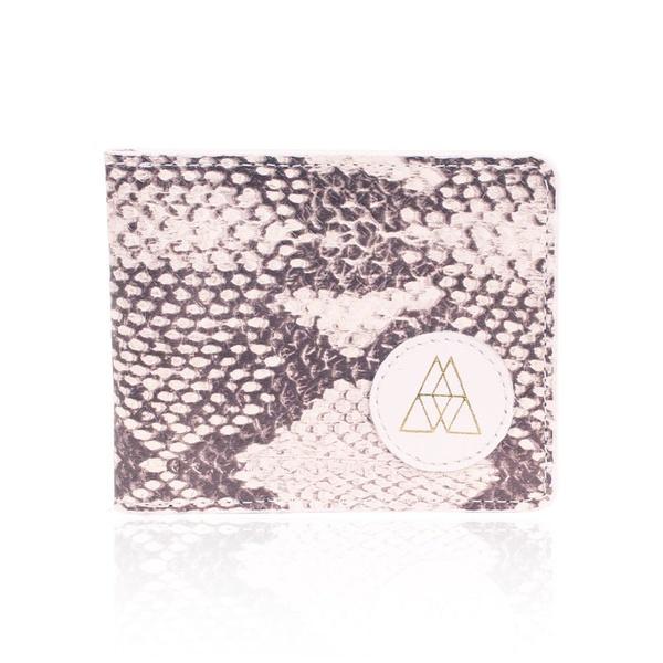 Carteira Para Cartões Couro Snake Branco