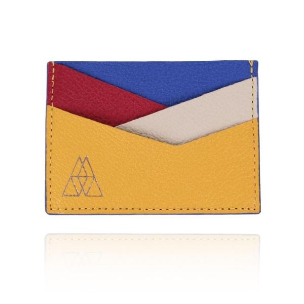 Carteira Summart Porta Cartões Geométrica Couro Mondrian