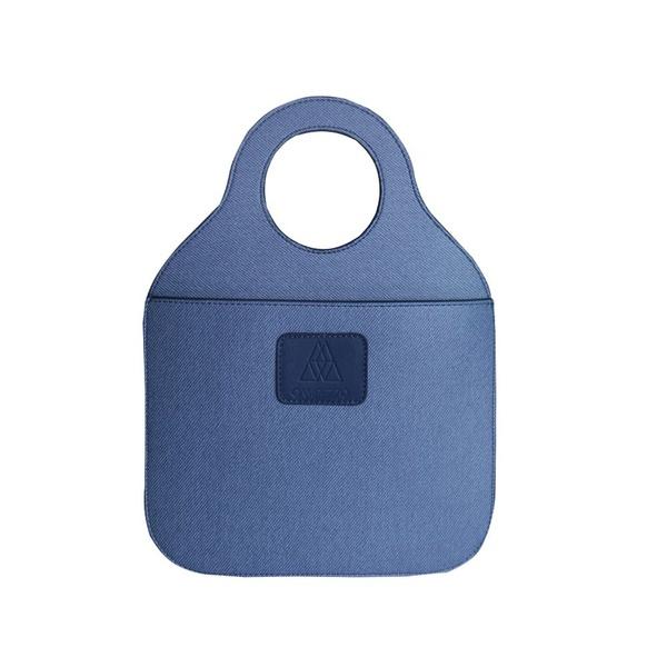 Lixeira Azul Jeans Organizadora de Carro