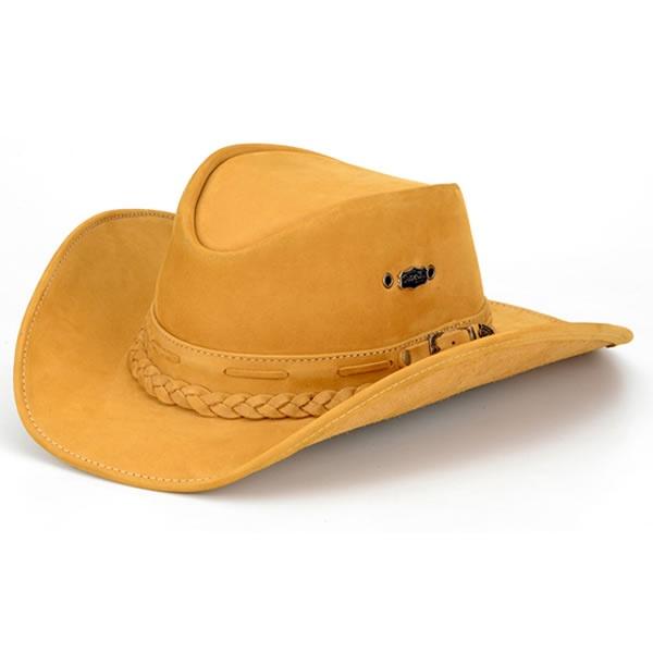 Chapéu Texano Country Couro Castor