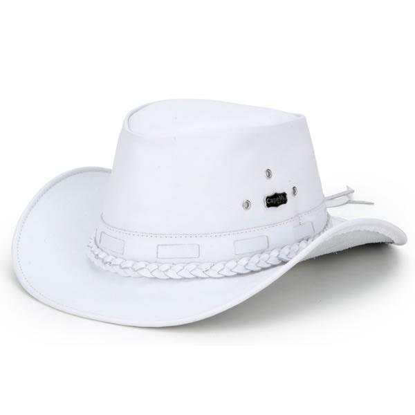 Chapéu Mala Couro Masculino Branco