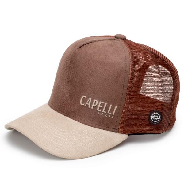 Bonés Personalizados Capelli Boots Bege Com Marrom