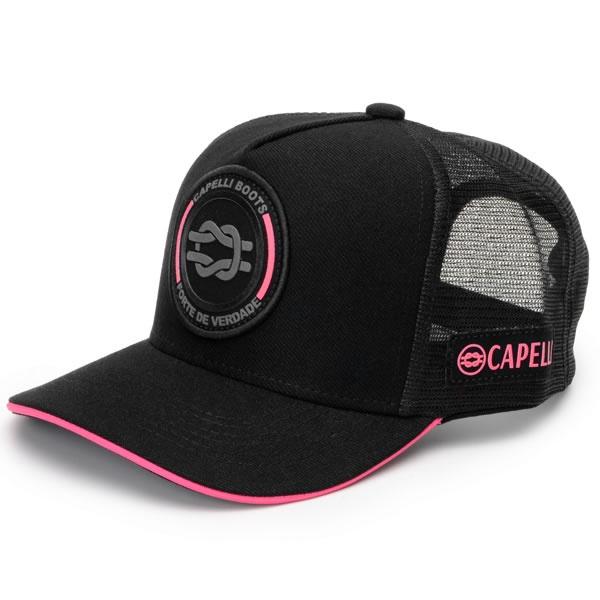 Boné Oficial Da Capelli Lançamento Cor Preto Com Rosa
