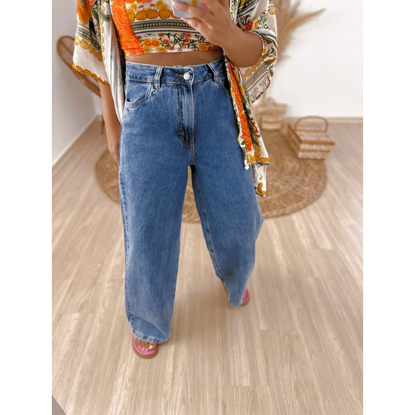 Calça Jeans Pantalona Jeans