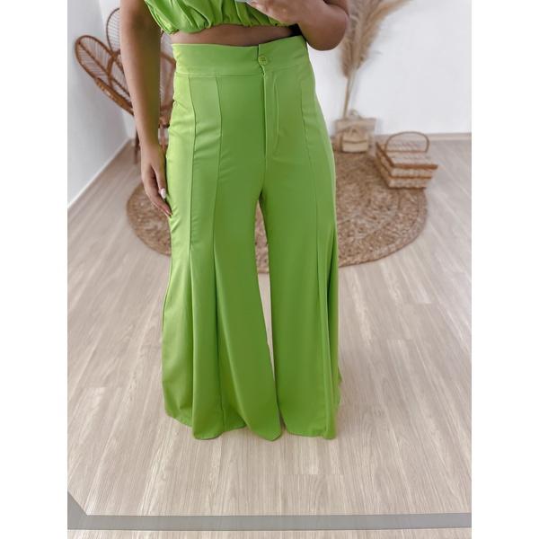Calça Mayara Pantalona Verde Limao