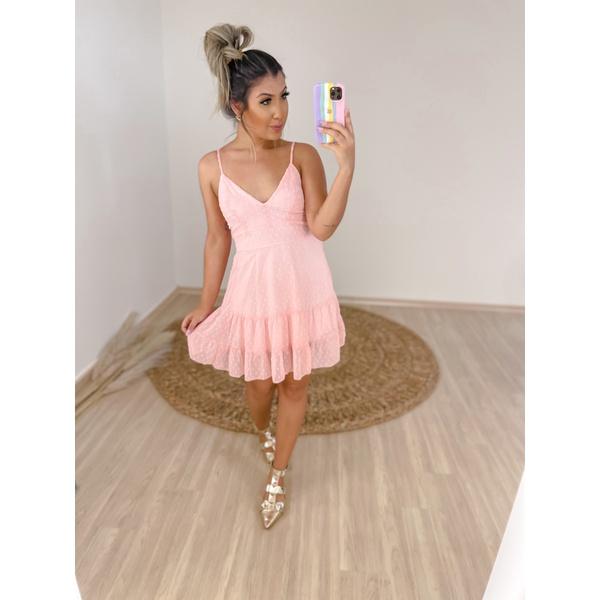Vestido Flávia Rosa Claro