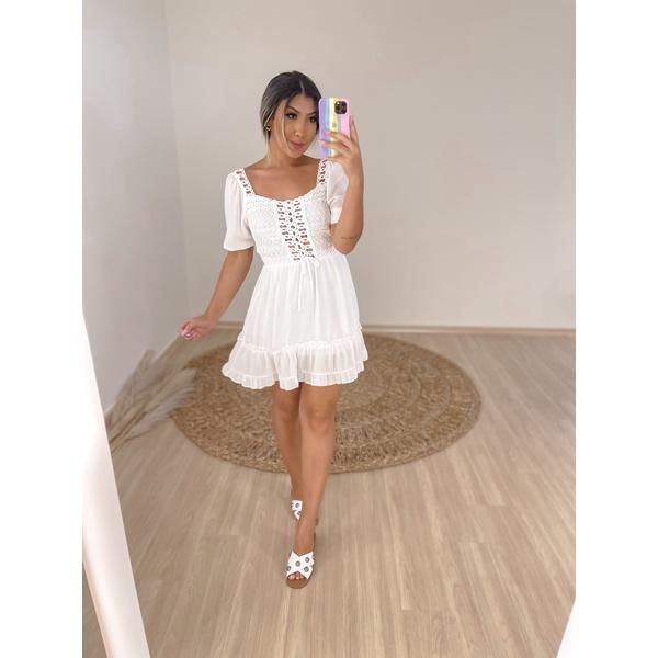 Vestido Andreza Branco