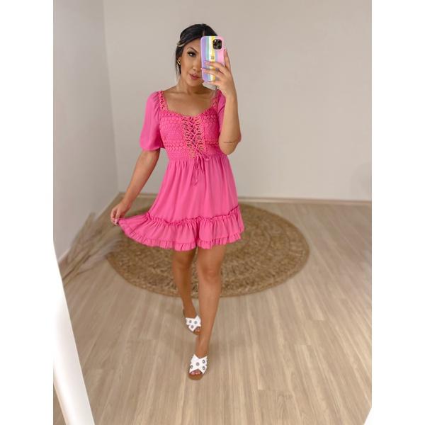 Vestido Andreza Rosa