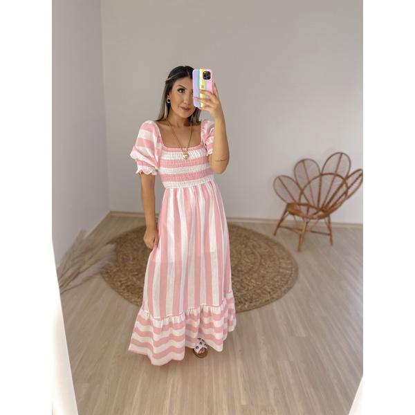 Vestido Listrado Márcia Salmão