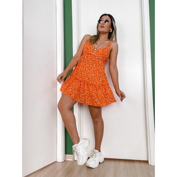 Vestido Antonieta Laranja