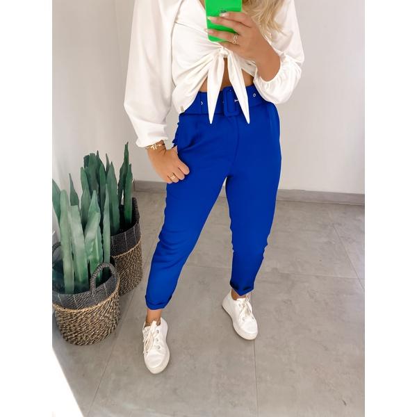 Calça Alfaiataria Thais Azul