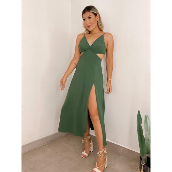 Vestido Veneza Verde Militar