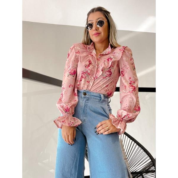 Camisa Holambra Rosa