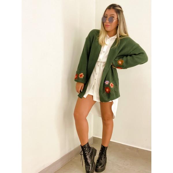 Casaco Flor Verde