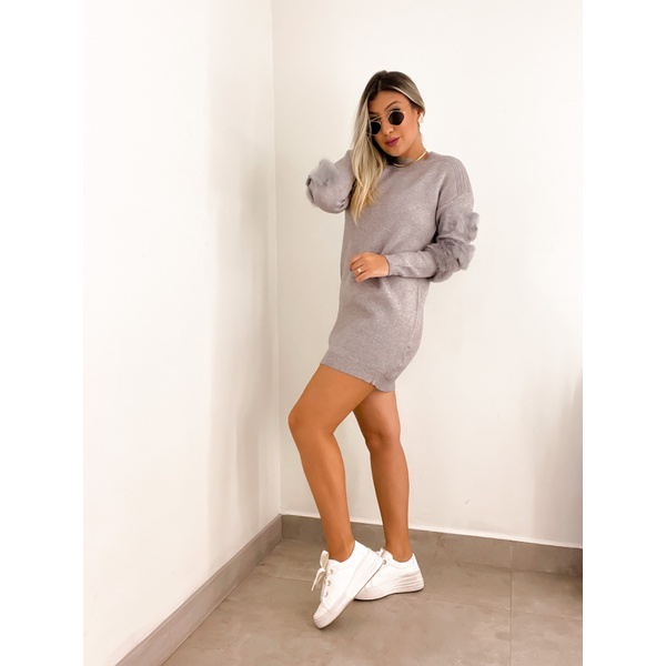 Vestido Alicia Cinza