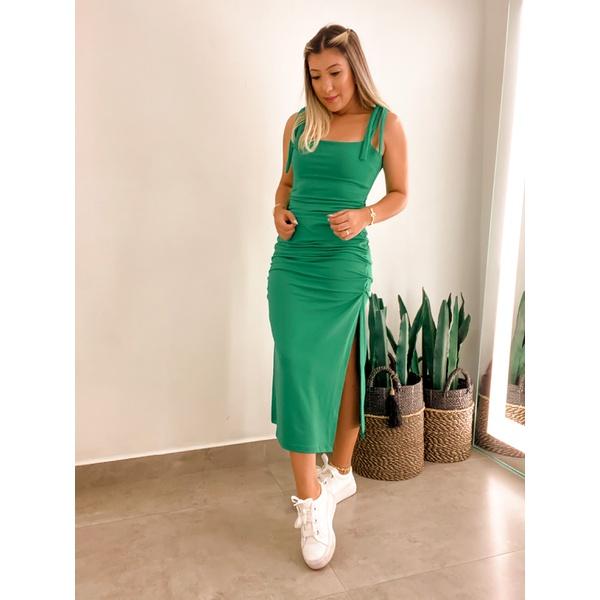 Vestido CF Amarração Verde