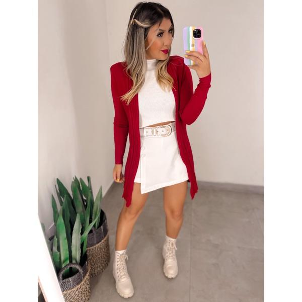 Cardigan Felicia Vermelho