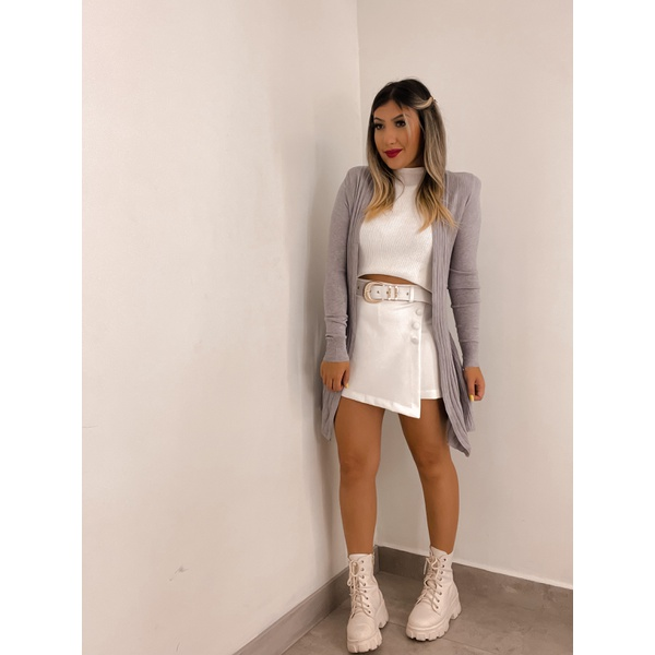 Cardigan Felicia Cinza