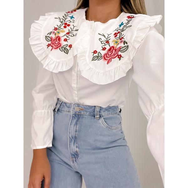 Camisa Mel Branca Branca
