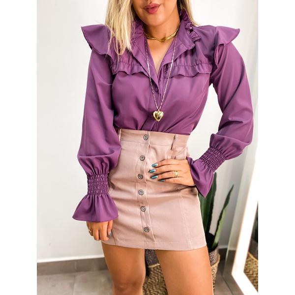 Camisa Selena Roxa