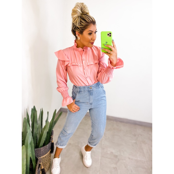 Camisa Selena Rosa Rosa
