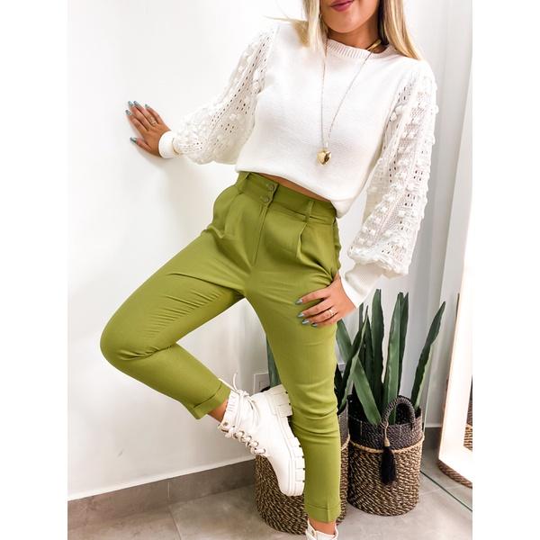 Calça Alfaiataria Linho Verde