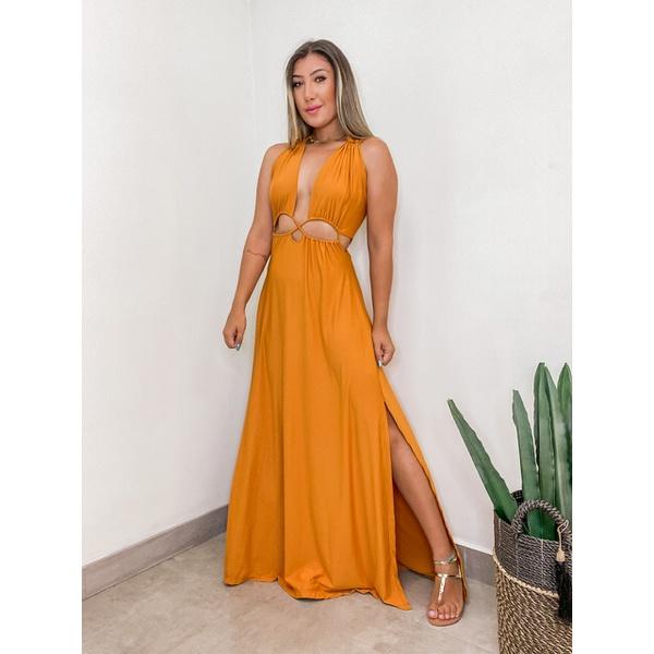 Vestido Jade Mostarda