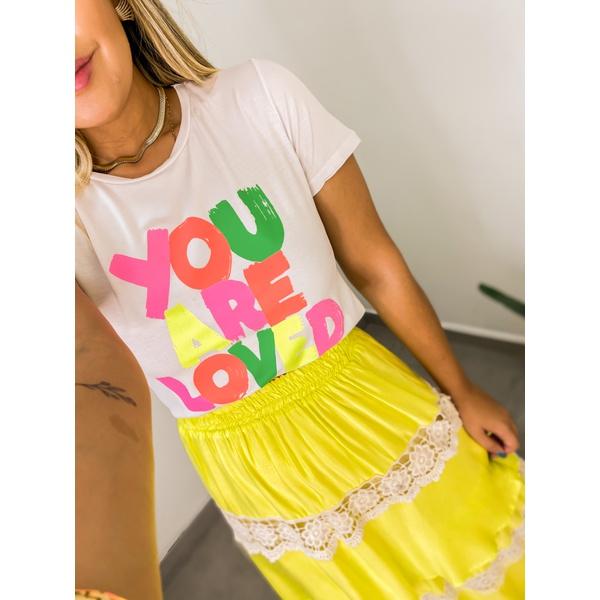 Tshirt You Are Loved Branca Branca